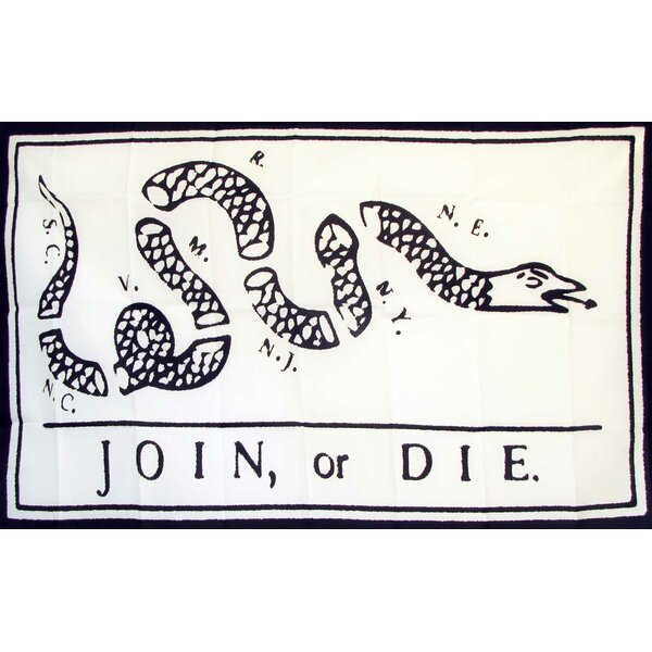 Join or Die Rattlesnake Traditional Flag by NeoPlex