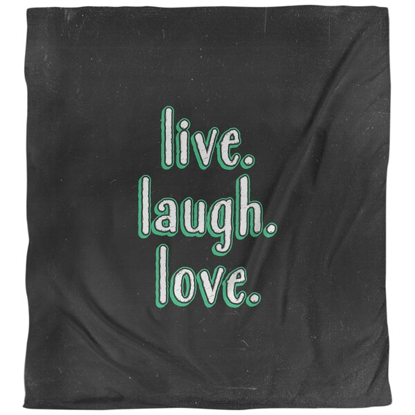 Live Laugh Love Quote Single Duvet Cover
