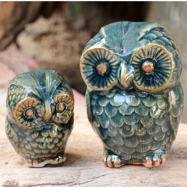 Duangkamol 2 Piece Ceramic Figurine Set by Novica