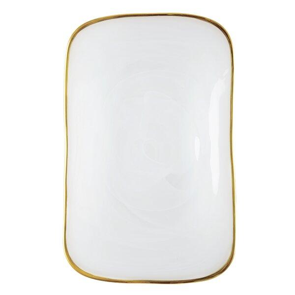 Alabaster Rectangular Platter by VIETRI