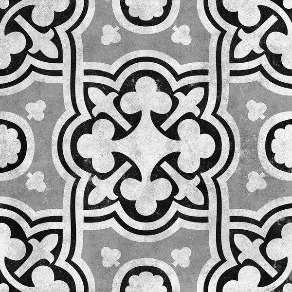 Cementine 16 x 16 Ceramic Field Tile in Contrast Fiori by Interceramic