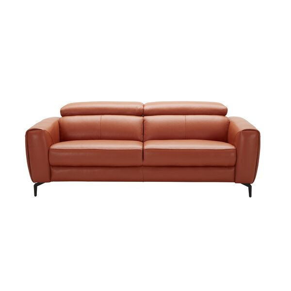 Camptown Leather Sofa by Orren Ellis