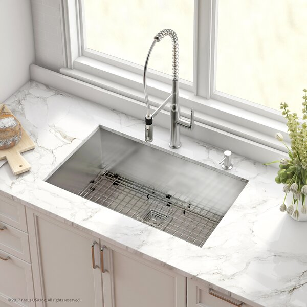 Pax™ Stainless Steel 16 Gauge 31.5 x 18.5 Undermount Kitchen Sink with Faucet by Kraus