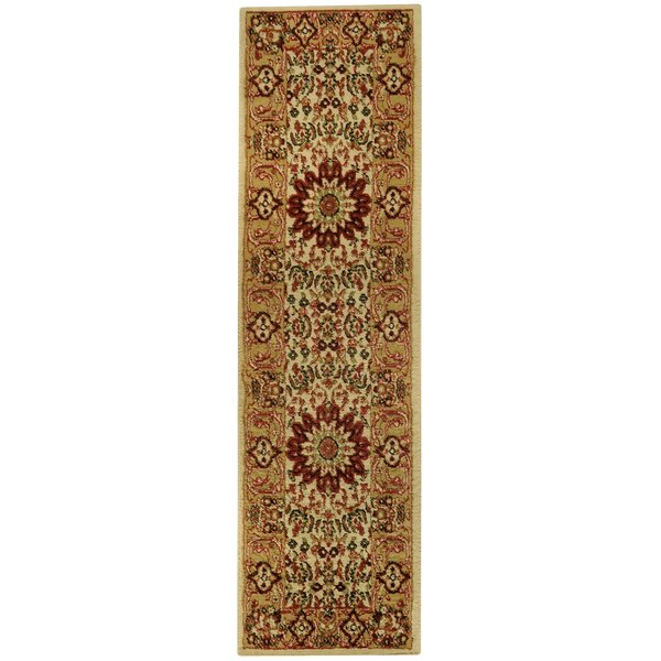Wotring Medallion Traditional Ivory/Red Area Rug by Bloomsbury Market