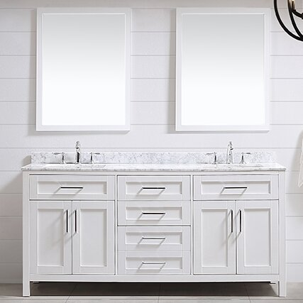 Tahoe 72 Double Bathroom Vanity Set with Mirror by Ove Decors
