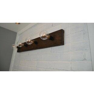 Great Price Wood 4-Light Bath Bar By West Ninth Vintage