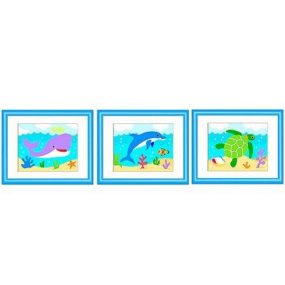 Ocean 3 Piece Framed Art Set by Olive Kids