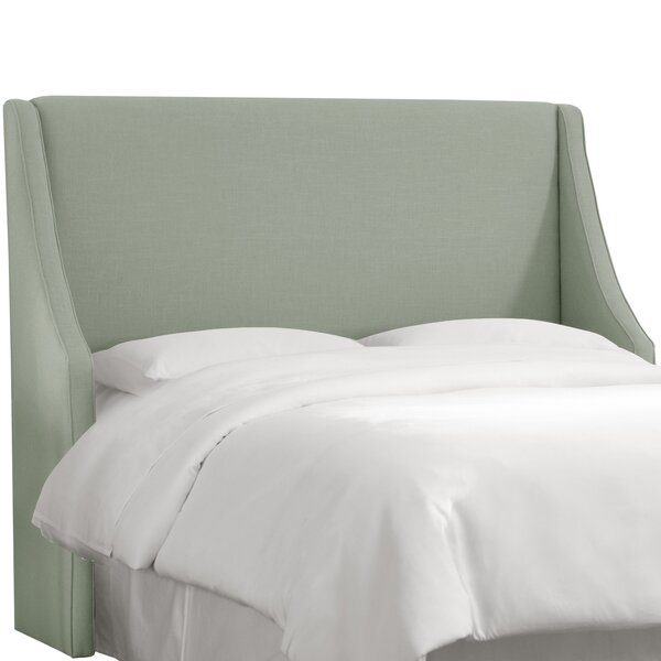 Maser Swoop Arm Upholstered Wingback Headboard by Mercury Row