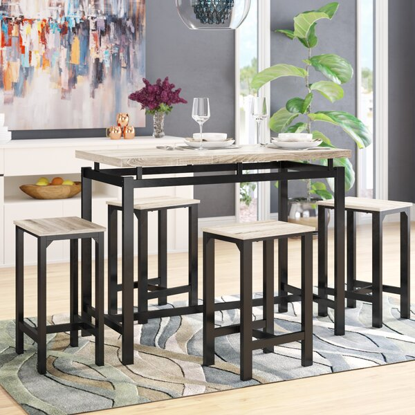 Weatherholt 5 Piece Pub Table Set by Latitude Run