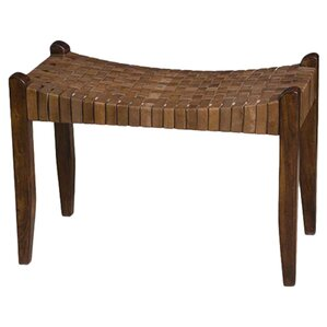 Angelica Wood Bench by World Menagerie