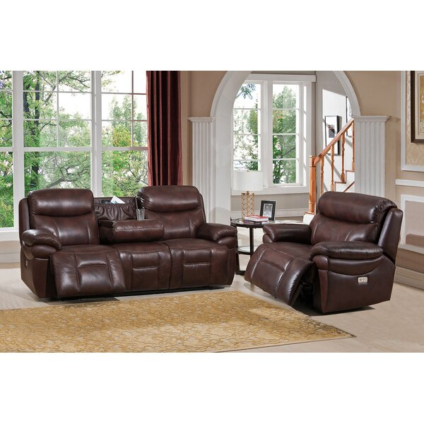 Kubik Reclining 2 Piece Leather Living Room Set by Red Barrel Studio