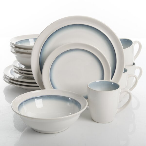 Chauvin 16 Piece Dinnerware Set, Service for 4 by Mint Pantry