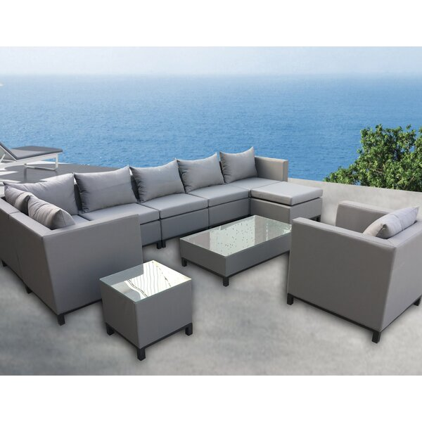 Honeycutt 10 Piece Sectional Set with Cushions Brayden Studio BYST3576