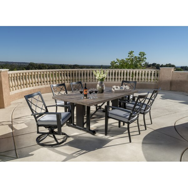 Duncombe 7 Piece Sunbrella Dining Set with Cushions by Darby Home Co
