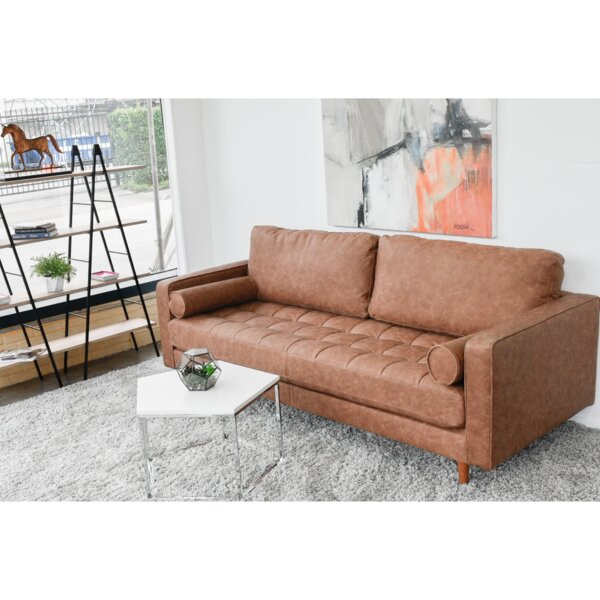 Best Deals Warner Vintage Leather Sofa by Modern Rustic Interiors by Modern Rustic Interiors