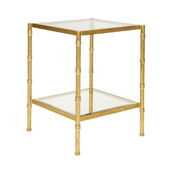 Bamboo End Table by Worlds Away