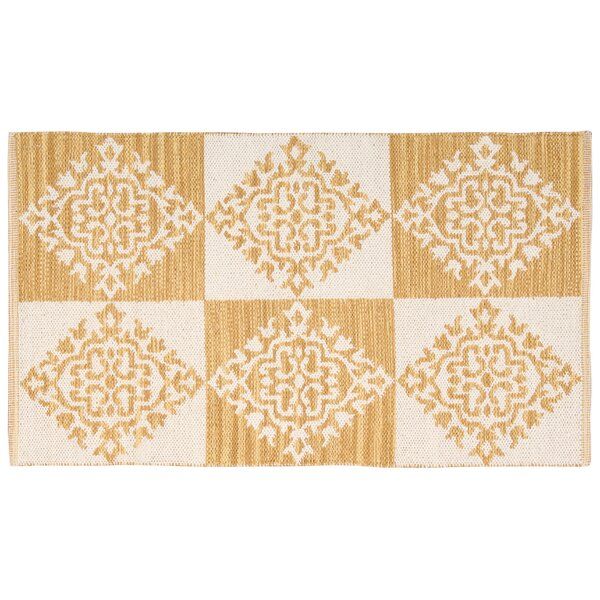 Westfield Gold/Cream Area Rug by Charlton Home