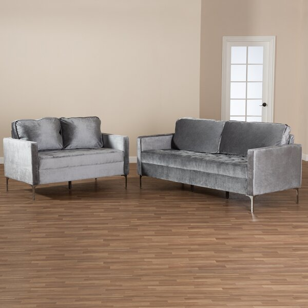 Jennings 2 Piece Living Room Set by Mercer41