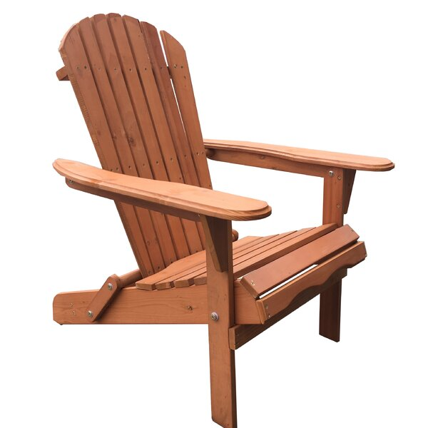 Arana Solid Wood Folding Adirondack Chair by Breakwater Bay Breakwater Bay