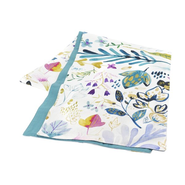 Flower Print Table Runner by Hallmark Home & Gifts