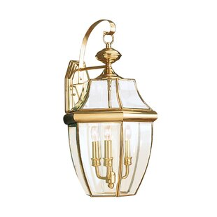 Best Reviews Redfern 3-Light Outdoor Wall Lantern By Alcott Hill