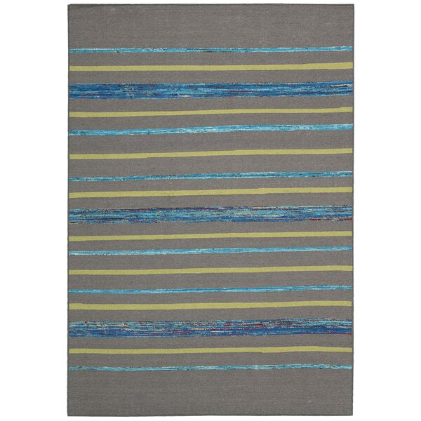 Pine Grove Gray Turquoise Rug by Bloomsbury Market