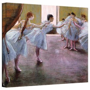 'Dancers at Rehearsal' by Edgar Degas Painting Print on Wrapped Canvas by ArtWall