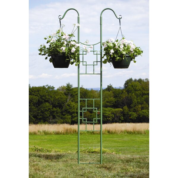 Square-on-Squares Iron Gothic Trellis by ACHLA