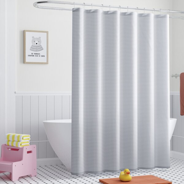 Dupree Everyday Gingham Shower Curtain by Harriet Bee