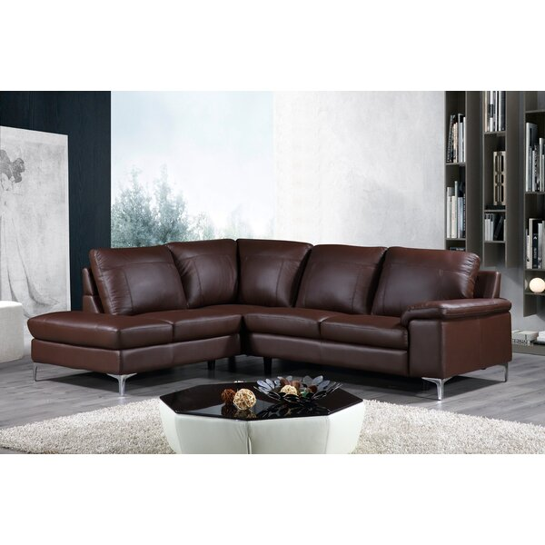 Dallas Leather Sectional by Latitude Run