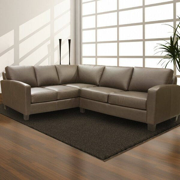 Suzanna Leather Sectional by Latitude Run