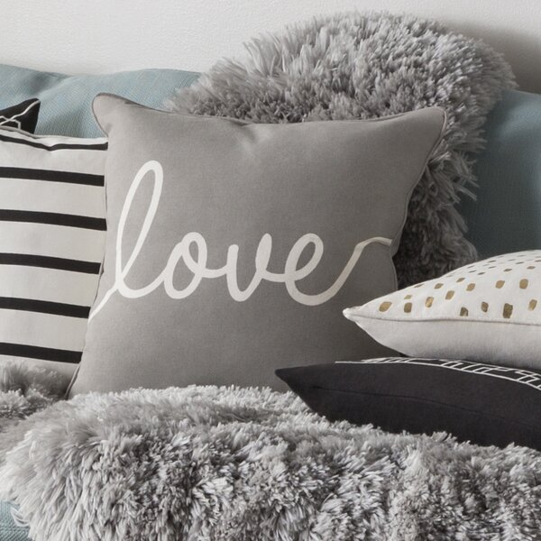 Carnell Romantic Love Cotton Throw Pillow Cover by Mercury Row