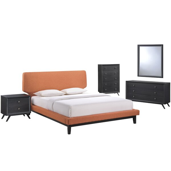 Bethany Queen Platform 5 Piece Bedroom Set by Modway