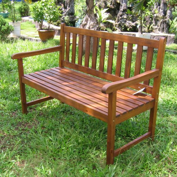 Rothstein Acacia Wood Garden Bench by Beachcrest Home