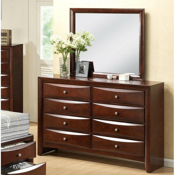 Derik 8 Drawer Double Dresser with Mirror by Red Barrel Studio