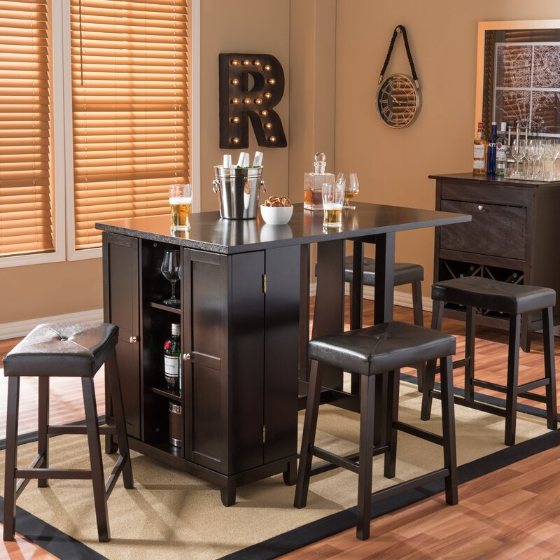Attirant Baxton Studio Aurora 5 Piece Dining Table Set