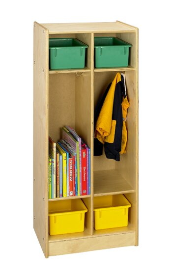 Cubbie 3 Tier 2 Wide Coat Locker by A&E Wood Designs