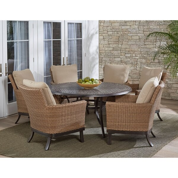 Pryor 5 Piece Dining Set with Cushions