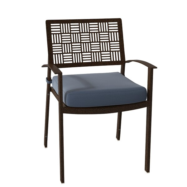 New Century Stacking Patio Dining Chair with Cushion (Set of 2) by Woodard Woodard