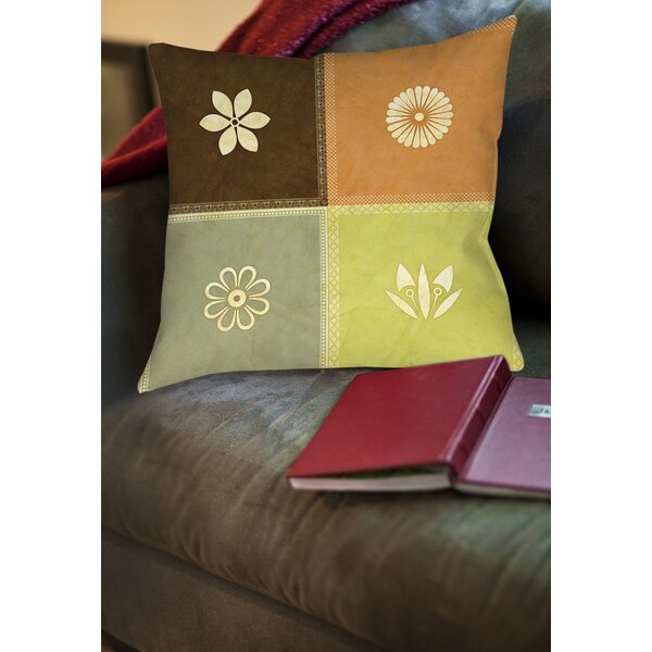 Graphic Garden Sage Printed Throw Pillow by Manual Woodworkers & Weavers