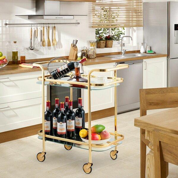 Palmquist Serving Kitchen Bar Cart by Everly Quinn Everly Quinn