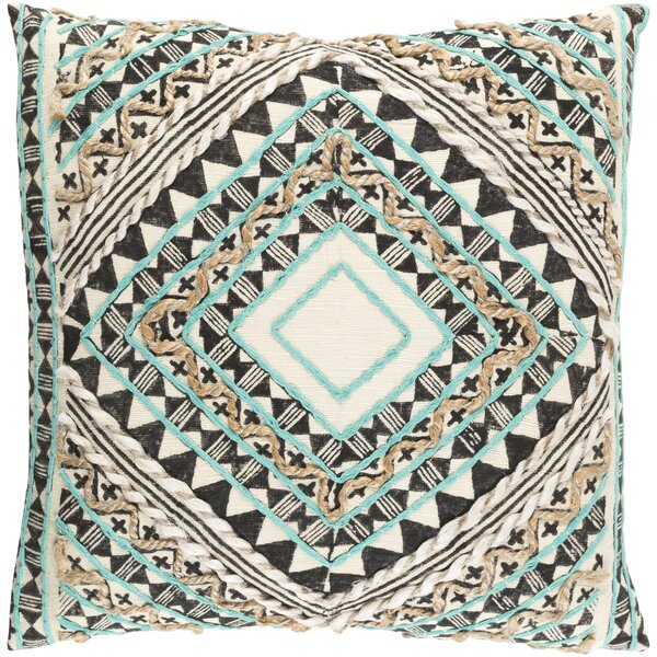 Jaidyn Cotton Throw Pillow by Mistana
