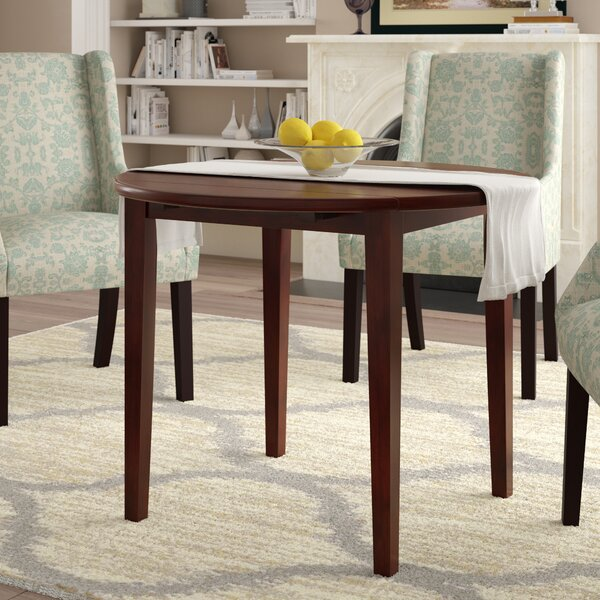 Kendall Drop Leaf Solid Wood Dining Table by Alcott Hill