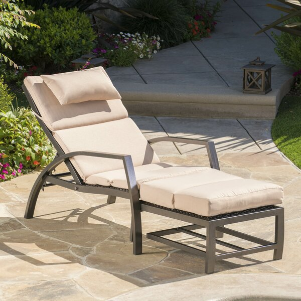Pergamon Outdoor Lounge Chair with Cushion by Orren Ellis