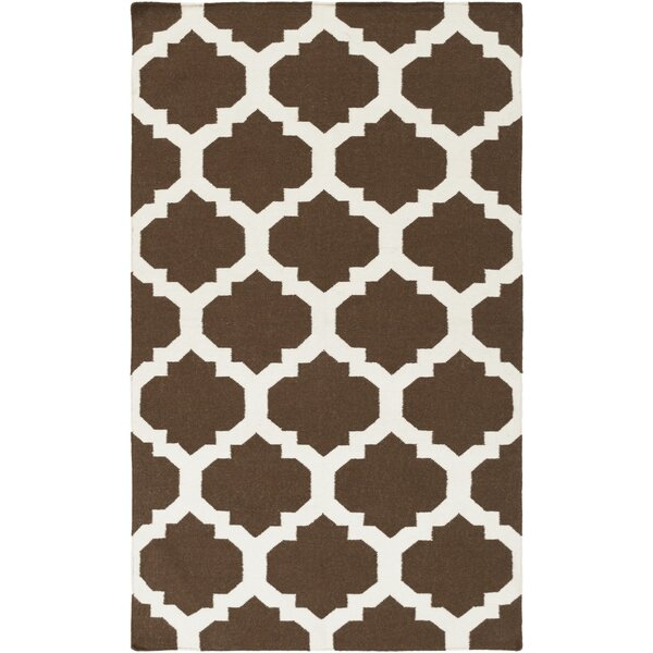 Bangor Brown Geometric Area Rug by Ebern Designs