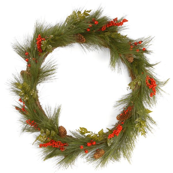 Mixed Bristle Pine 30 Wreath by National Tree Co.
