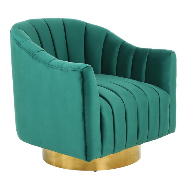 Simonsen Swivel Armchair by Everly Quinn Everly Quinn