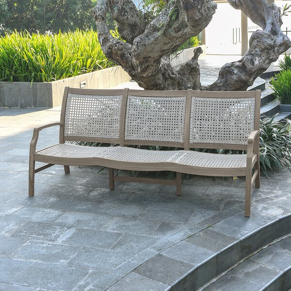 Junious Teak Patio Sofa by Foundry Select