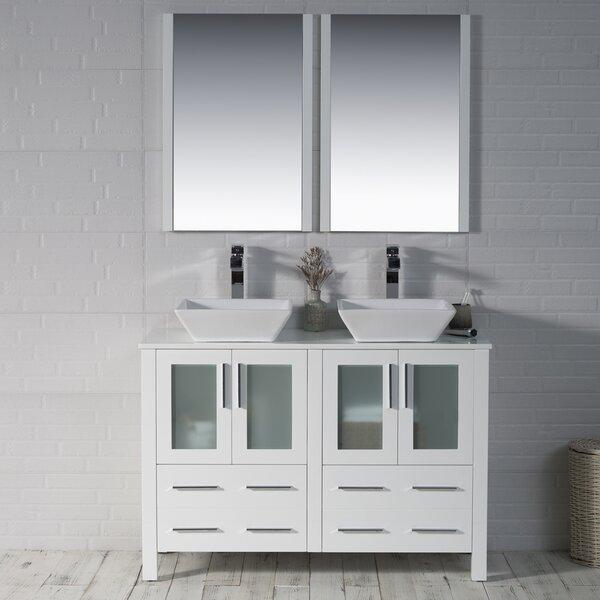 Mance 48 Double Bathroom Vanity Set with Mirror