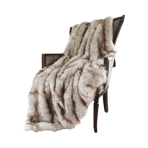 Demartino Faux Fur Throw by Wade Logan